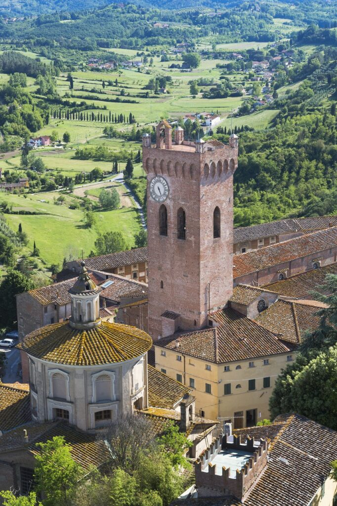 View of San Miniato, hidden gem in Tuscany