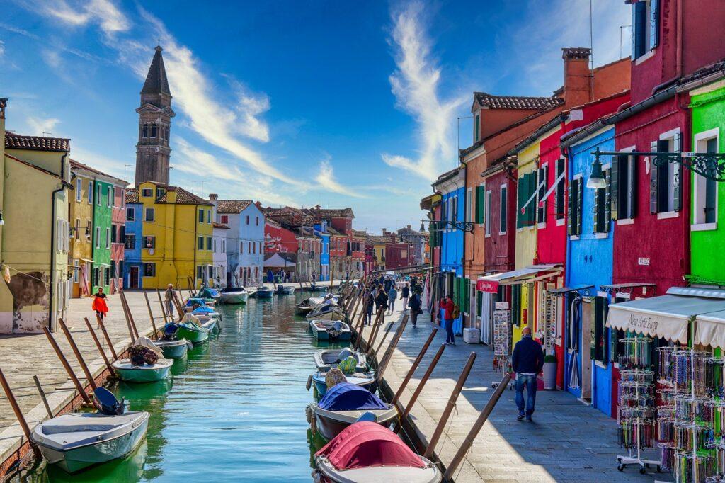 Beautiful island of Burano in Italy