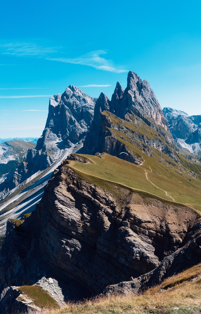 Beautiful view from Seceda 2500m, one of the best places to visit in the Dolomites