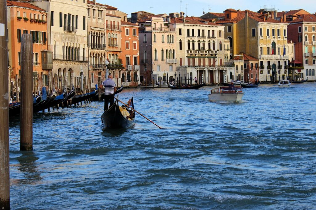 Gondola in the canals of Venice, Italy. A must do in Venice in 2 days