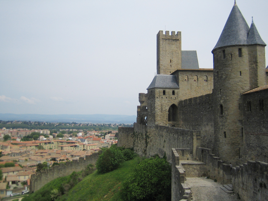 View of the beautiful town of Caracassonne in France