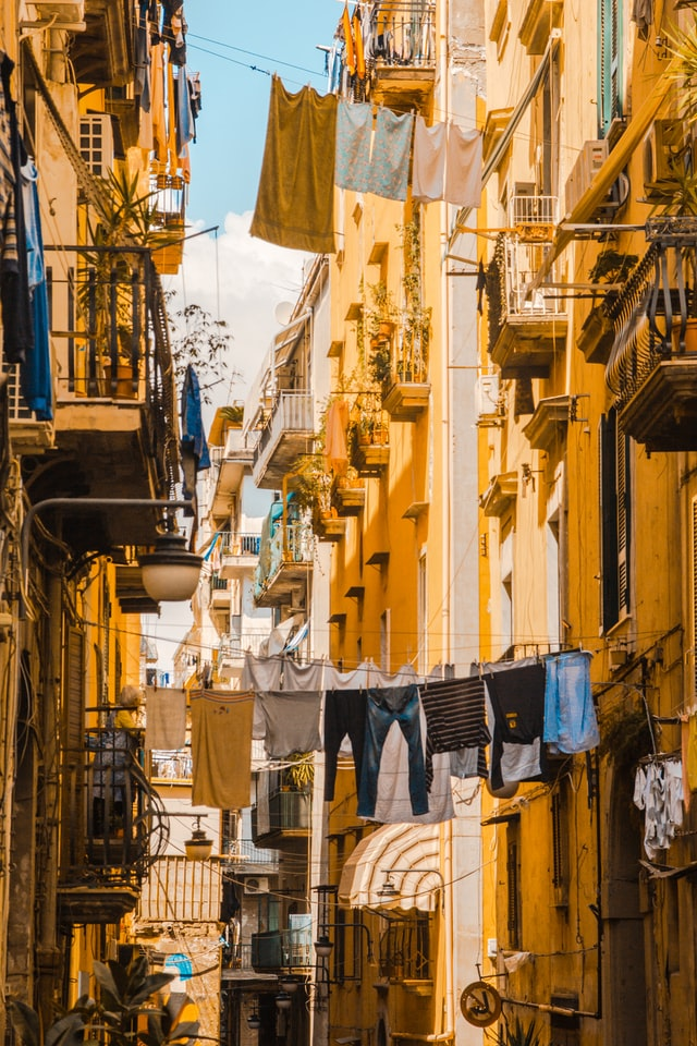 Alley view of a typical street in Naples - free things to do in Naples