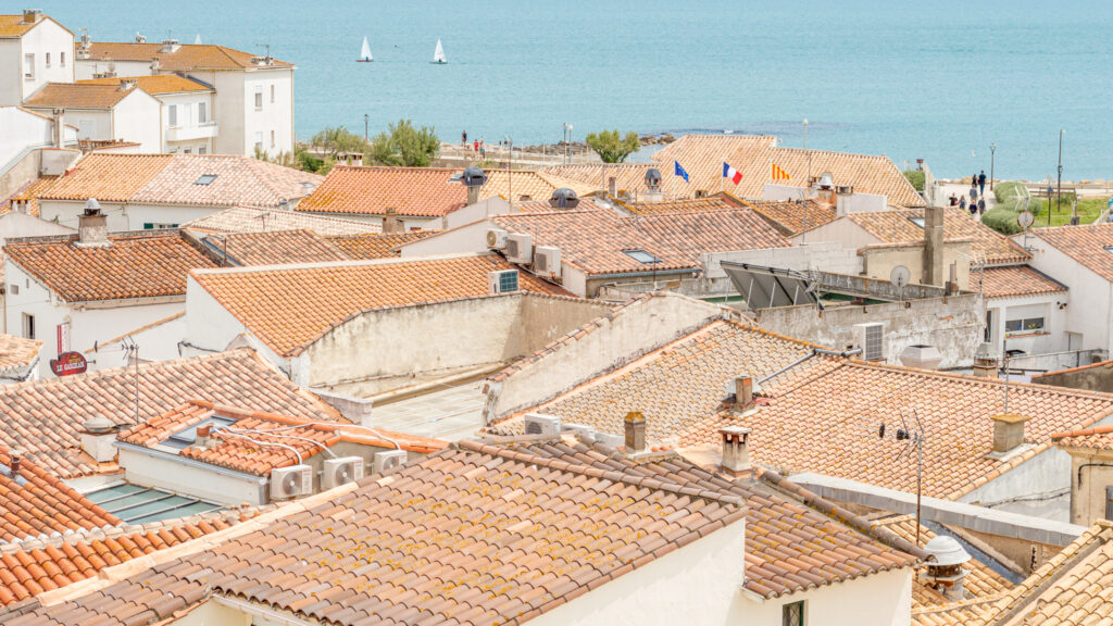Rooftop view of the town of Saintes-Maries-de-la-Mer a hidden gems in France off-the-beaten path