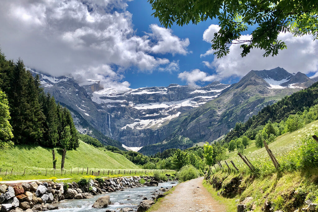Valley view of Cirque de Gavarnie, one of the hidden gems in France off-the-beaten path