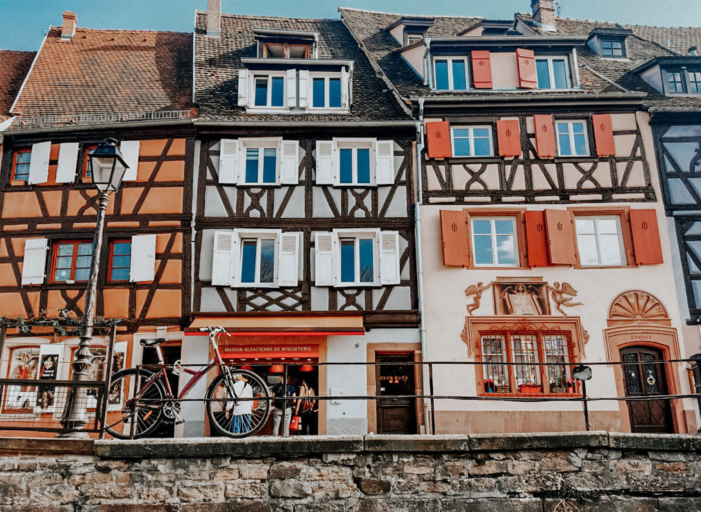 Beautiful street of Colmar, France