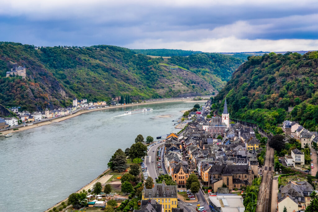 Picturesque town of St. Goar on the Rhine, a hidden gem in Germany off-the-beaten path