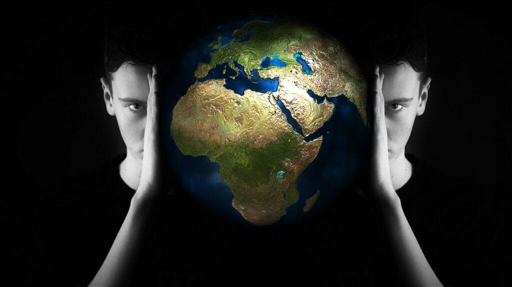 head, world, globe