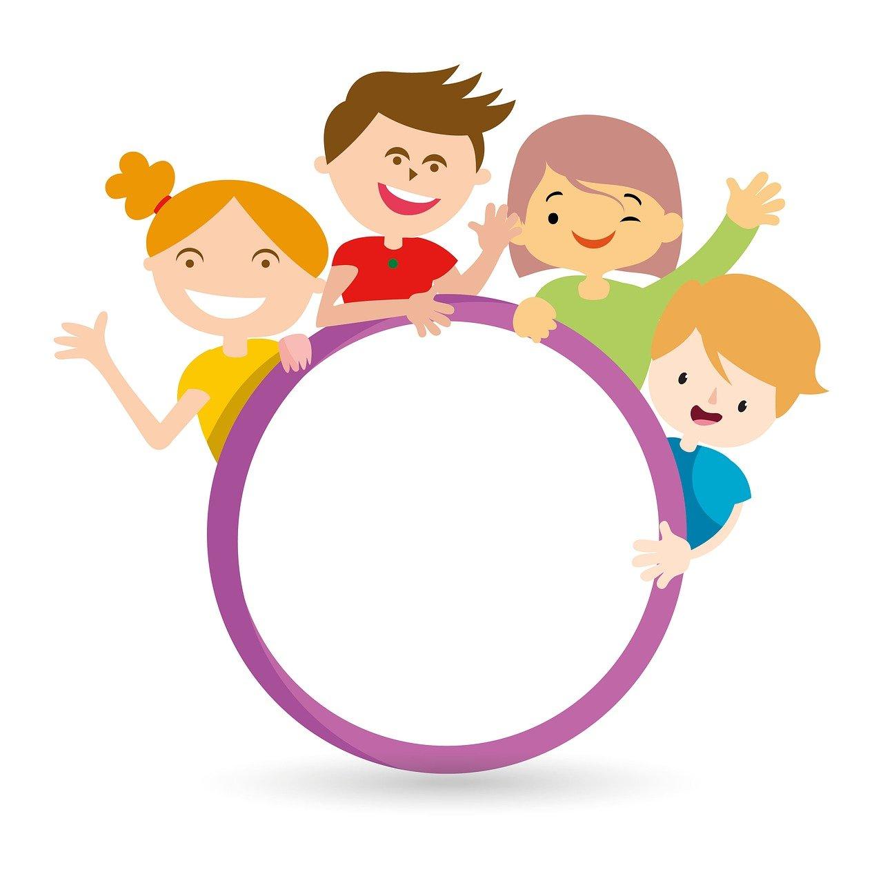 kids, friend, circle