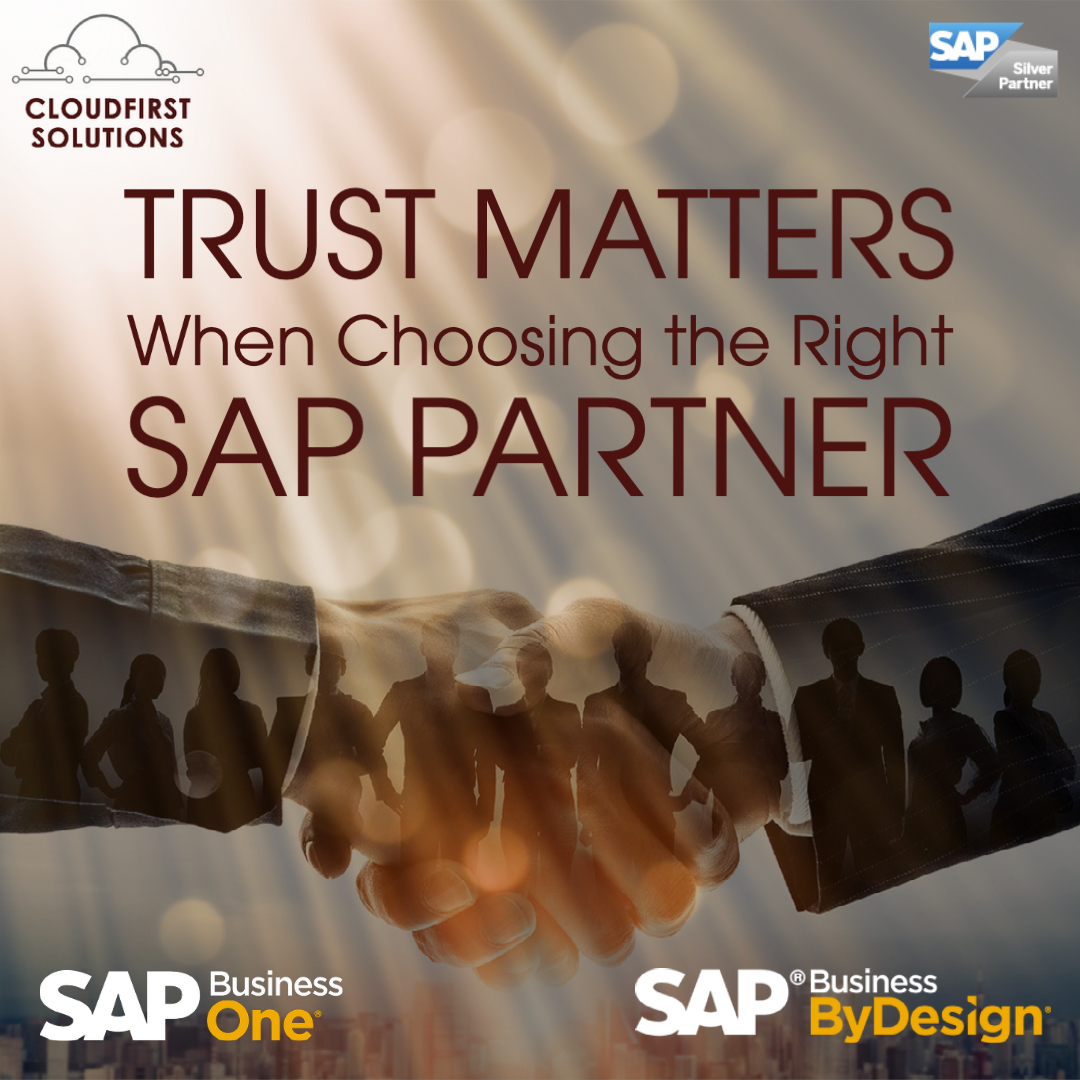 Contact us. Trust matters when choosing the right SAP partner.