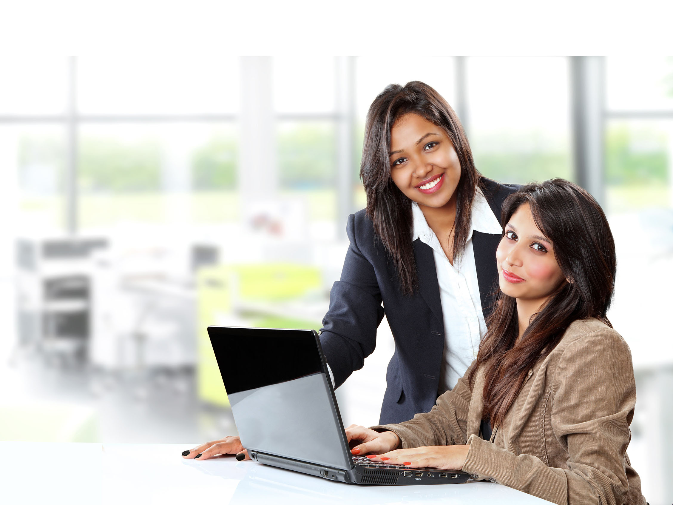 Business women at computer