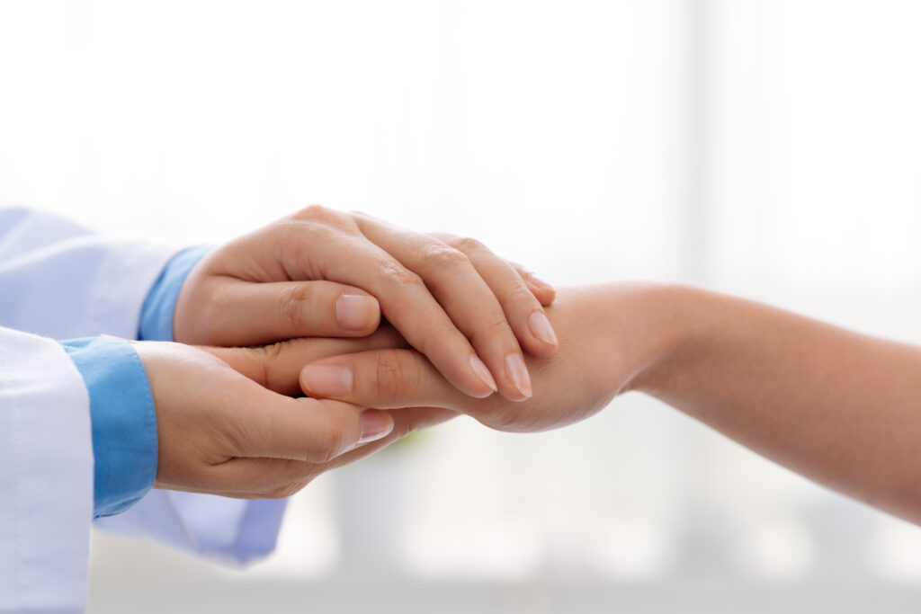 Caring hands. Numina Medical Billing can help your practice with end-to-end RCM.