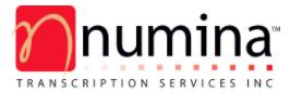 Numina Transcription logo
