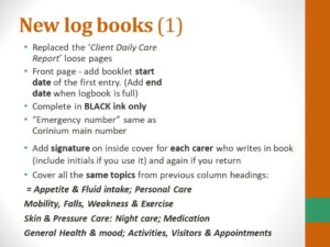 log book instructions