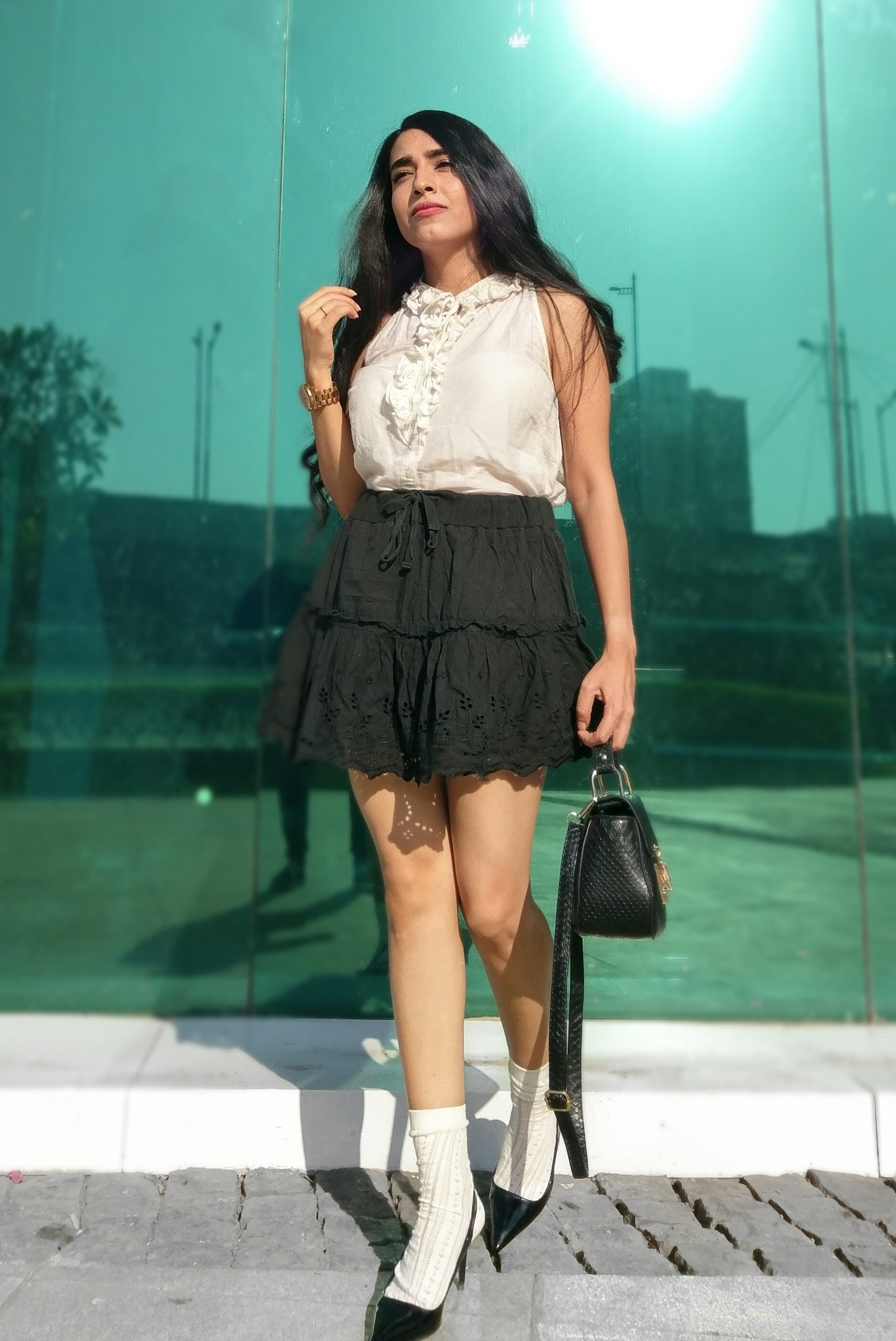Monochrome street style fashion blog