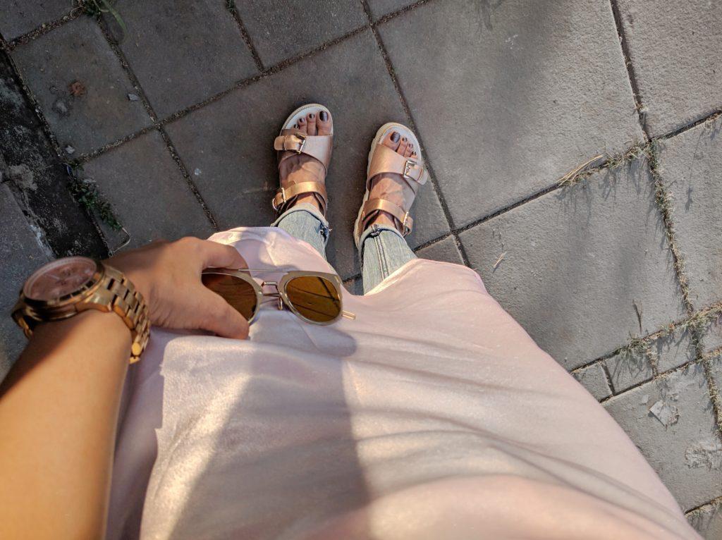 details, pink slip dress, slip dress, india street style, fashion , blogger