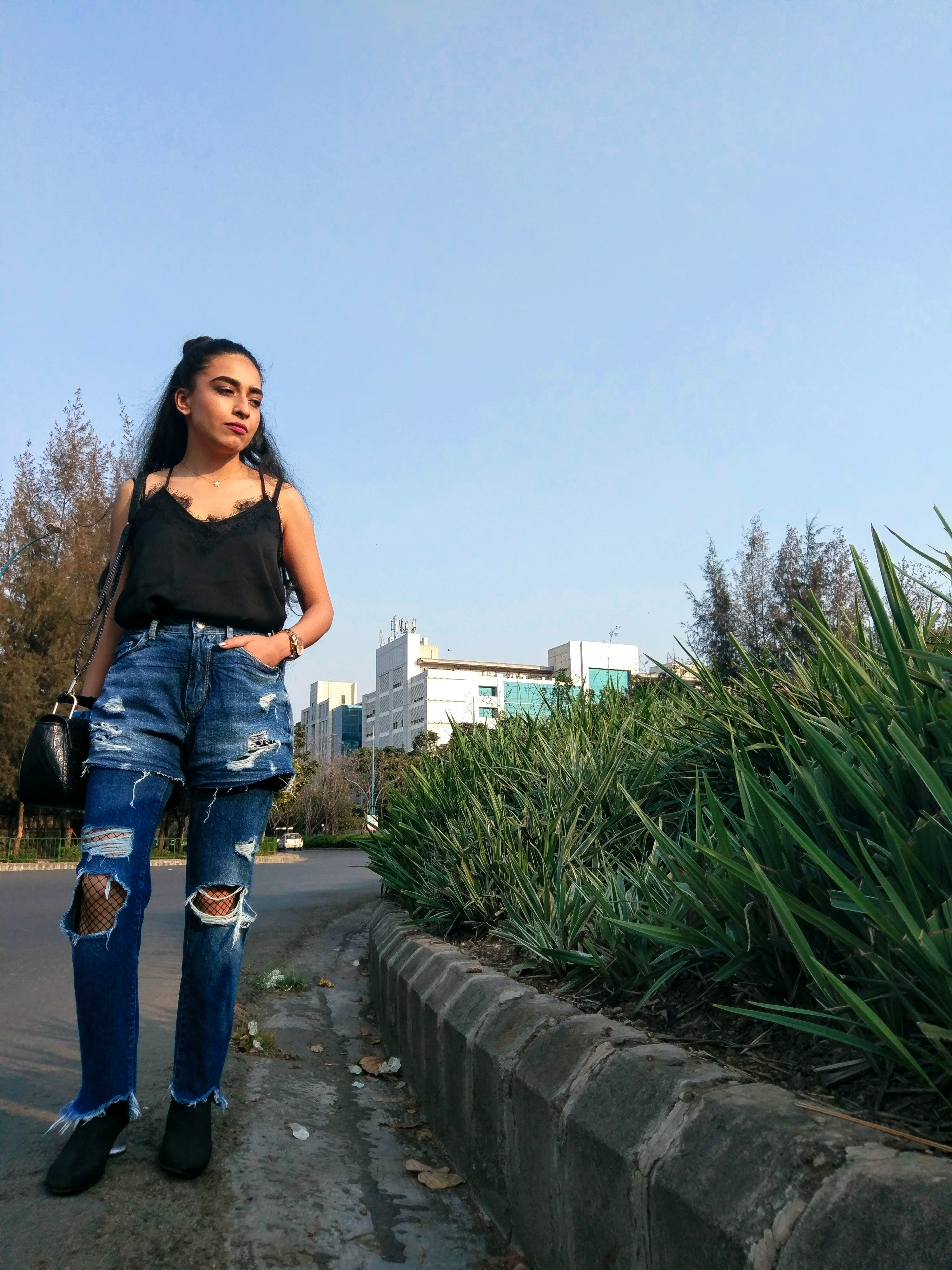 shopping, shein, slip top, lace top, slip dress, fall wishlist, boots, shades, hats, online shopping, stylessential, street style, black slip, ripped jeans, slouchy boots, indian blogger