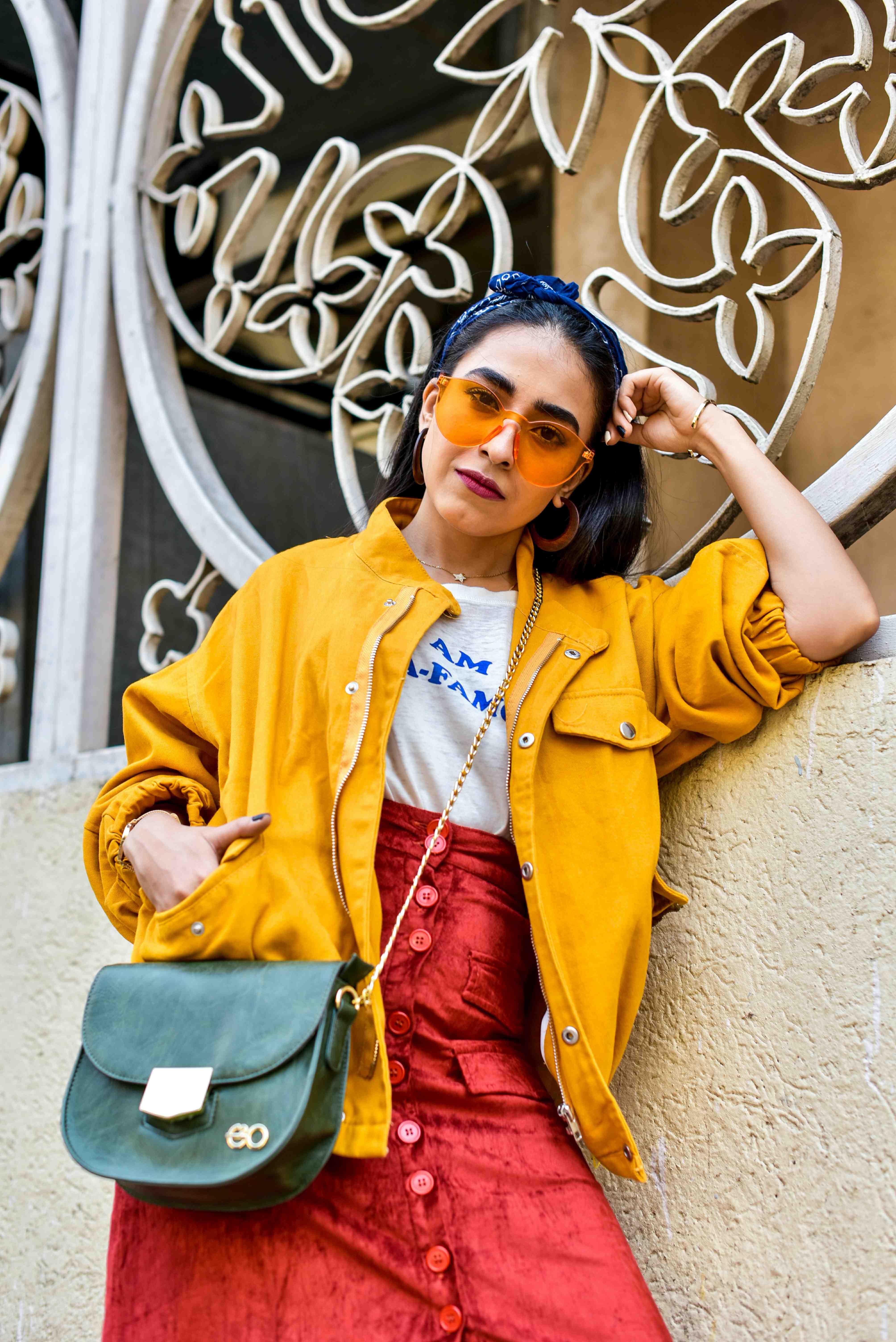 yellow, pantone color, mustard street style, streetstyle, indian street style, blogger fashion, blogger outfit, outfits, ootd, yellow outfit, yellow jacket, mustard jacket, mustard street style, 2018 color forecast,