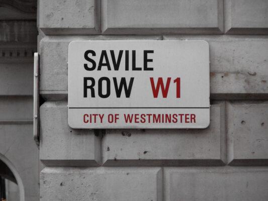 Savile Row Sign