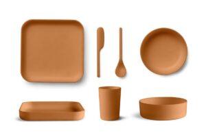 Vật liệu hỗn hợp từ tre và nhựa có thể không được phép trong đĩa và cốc
