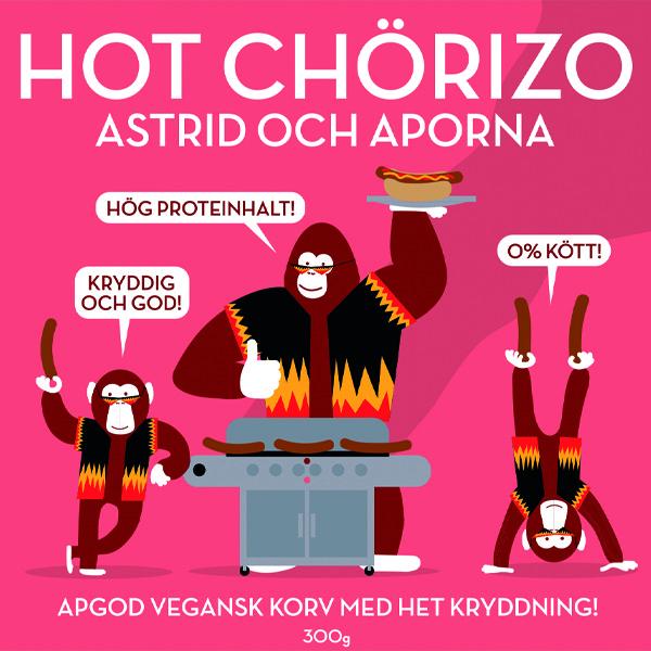 Hot Chörizo –Eldiga vegetariska korvar