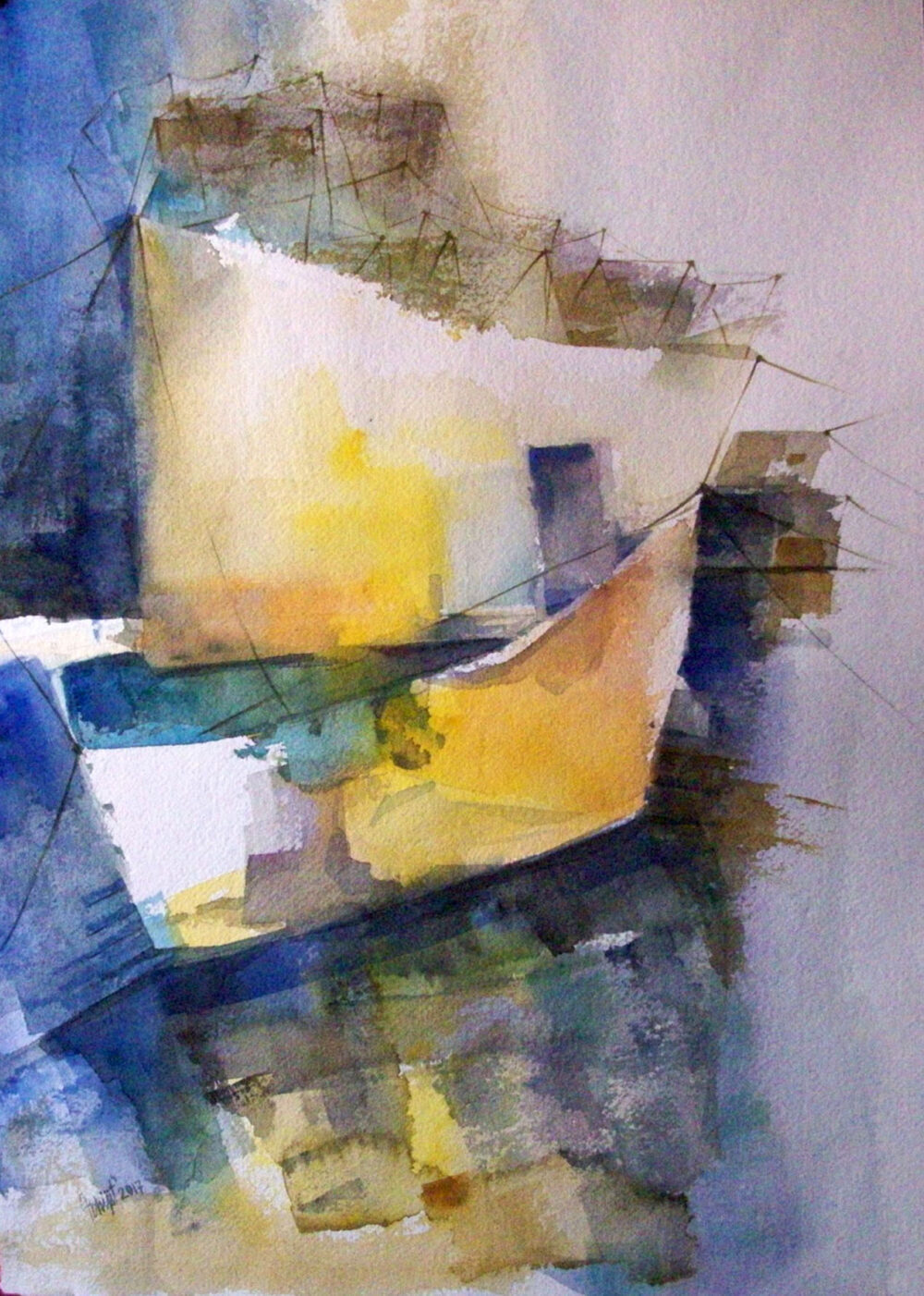 Abstract painting in watercolour