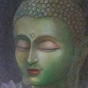 Painting of Buddha on paper
