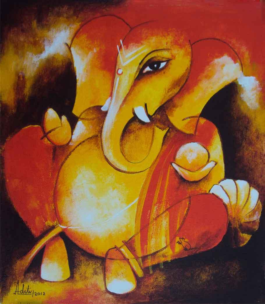 Ganesha on Canvas