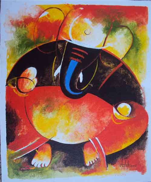 Ganesha on canvas
