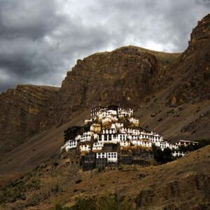 Photograph of monastery on glossy paper