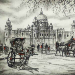 Painting of Kolkata on paper