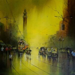 Painting of Kolkata Street