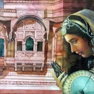 Painting of Meerabai of Rajasthan