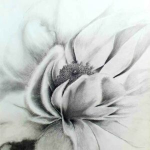 Painting of flower on paper