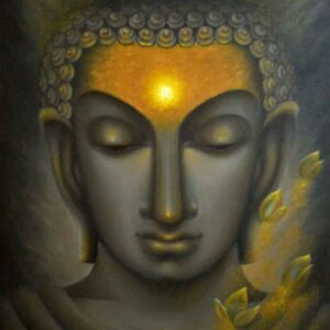 Painting of Lord Buddha on canvas
