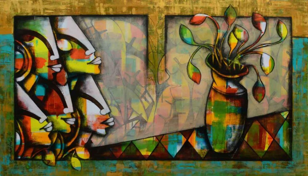 Figurative art on canvas