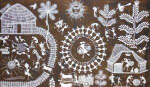 Warli art on cloth