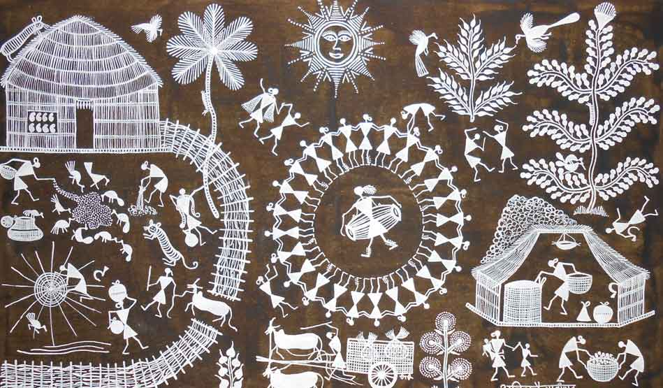Warli art on cloth