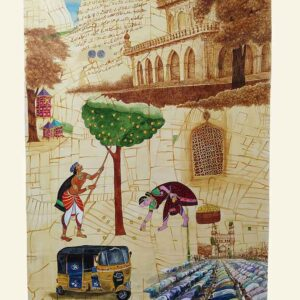 Scroll painting on canvas of Hyderabad