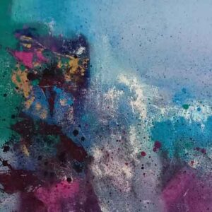 Abstract art painted on canvas