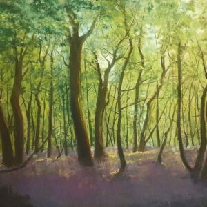 Painting of dooars jungle on paper