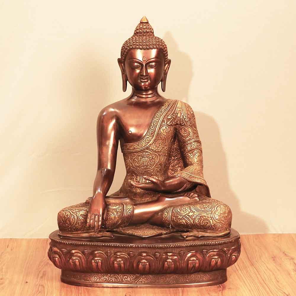 Statue of Buddha in brass