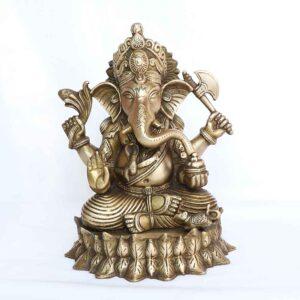 Statue of Ganesh in brass