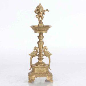 Brass Ganesh standing diya