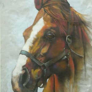 Painting on paper of horse