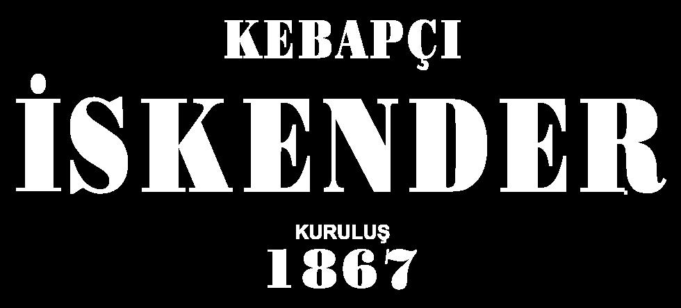 Kebapçı İskender Kuruluş 1867 beyaz logo