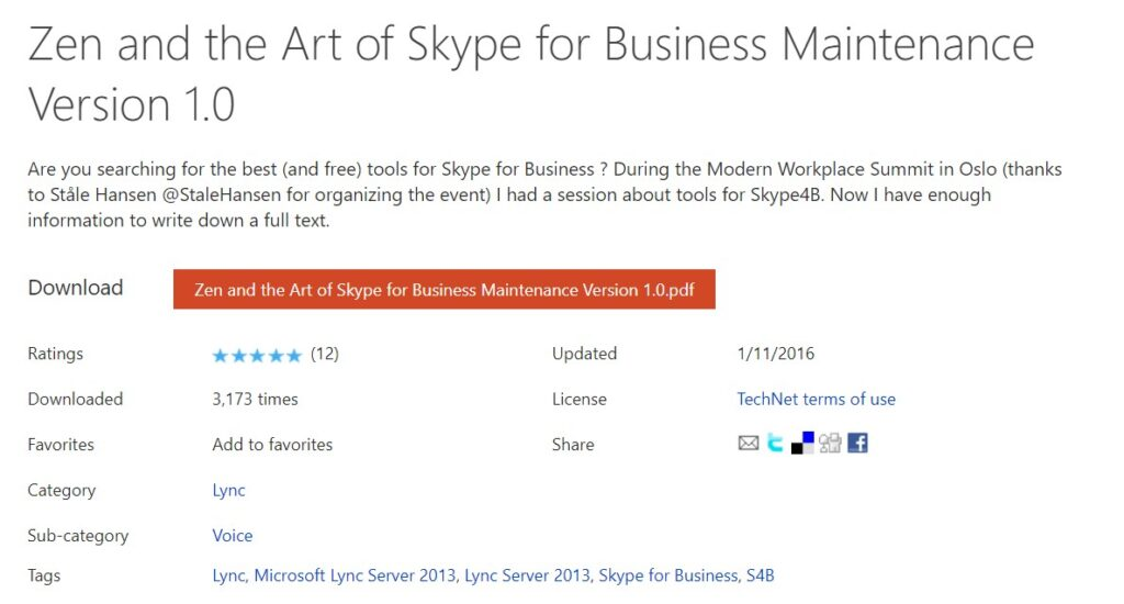 Book Cover: Zen and the Art of Skype for Business Maintenance Version 1.0