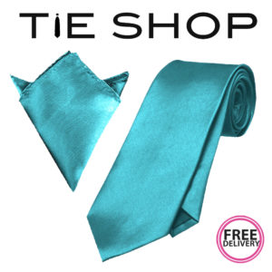 Turquoise tie and hanky