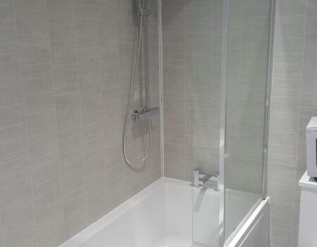 Top Drawer Construction white and silver bathroom installation Woking Weybridge Surrey