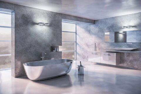 Top Drawer Construction white and chrome bathroom installation Woking Weybridge Surrey