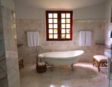 Top Drawer Construction white and stone bathroom installation service Woking Weybridge Surrey
